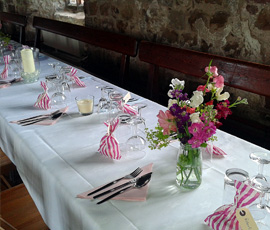 table settings at dacre hall lanercost
