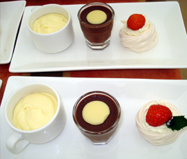 trio of puddings