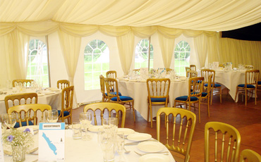 grinsdale bridge wedding marquee